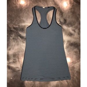 Lululemon striped racerback tank top